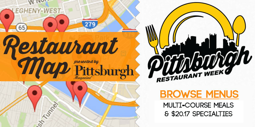 Pittsburgh Restaurant Week Map presented by Pittsburgh Magazine