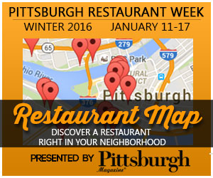 Restaurant Map presented by Pittsburgh Magazine