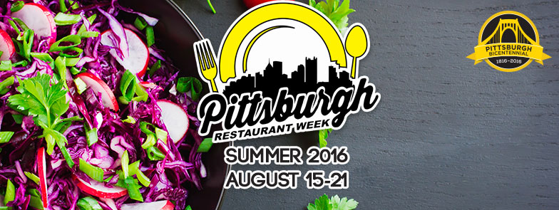 Pittsburgh Restaurant Week Summer 2016