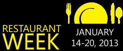 Pittsburgh Restaurant Week Winter 2013 Dates